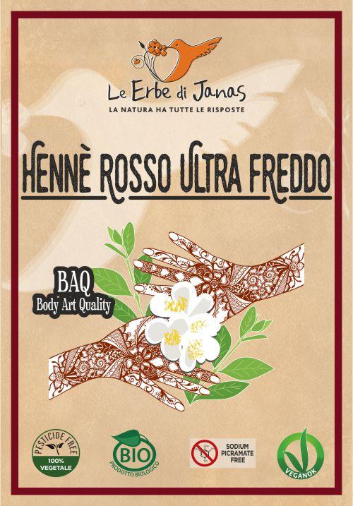 HENNÈ ROSSO ULTRA FREDDO LE ERBE DI JANAS