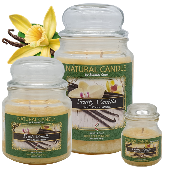 CANDELA MEDIA IN CERA VEGETALE VANIGLIA – NATURE CANDLE