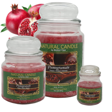 CANDELA PICCOLA IN CERA VEGETALE MELOGRANO – NATURE CANDLE