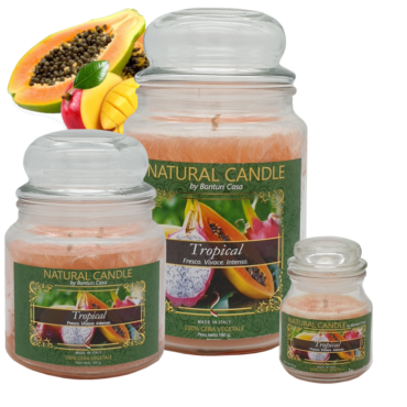 CANDELA MEDIA IN CERA VEGETALE TROPICALE – NATURE CANDLE