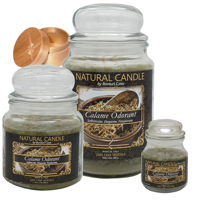 CANDELA PICCOLA IN CERA VEGETALE CALAME ODORANT – NATURE CANDLE