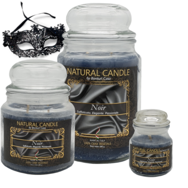 CANDELA PICCOLA IN CERA VEGETALE NOIR – NATURE CANDLE