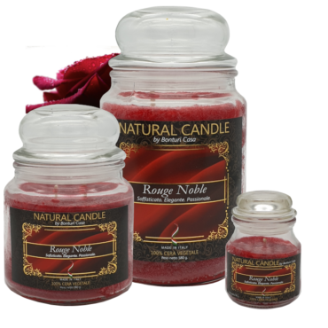 CANDELA PICCOLA IN CERA VEGETALE ROUGE NOBLE - NATURE CANDLE