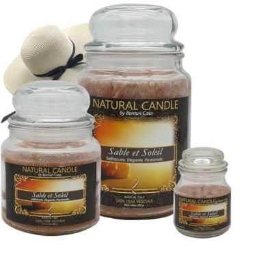 CANDELA PICCOLA IN CERA VEGETALE SABLE ET SOLEIL – NATURE CANDLE